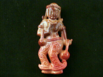 Great Chinese Old Jade Hand Carved *Legendary Woman* Pendant A097