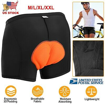 Gel Men/'s 3D Padded Cycling Underwear Bicycle Underpants Lightweight Bike Shorts
