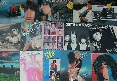 7 New Wave Power Pop Rock 1980s VG++ Record LOT Albums Mixed Vinyl Bands Music