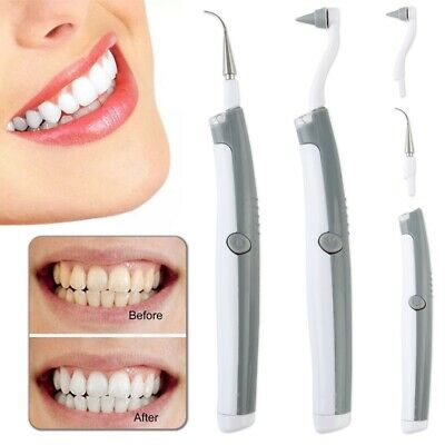 Electric Sonic Dental Tooth Stain Polisher Teeth Whitener Remover Plaque Tartar~