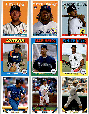 2019 TOPPS ARCHIVES Complete Base Set 1-300 Tatis Alonso Guerrero Trout Jeter +
