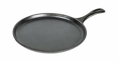 Lodge 10.5 Inch Cast Iron Griddle. Pre-seasoned Round Cast Iron Pan Perfect for