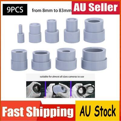 9pcs Camera Lens Repair Tool Ring Removal Rubber 8-83mm Accessory Set 18 Size AU