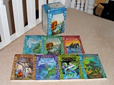 Chronicles Of Narnia Complete 7 Books Box Set By C S Lewis - Great Condition