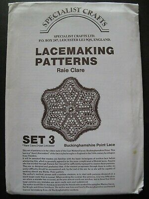 DRYAD LACEMAKING PATTERNS Set 3 – BUCKS POINT