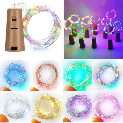 8 Colors 1M/2M LED Wine Bottle Stopper Lamp Wire String Lights Party Decoration