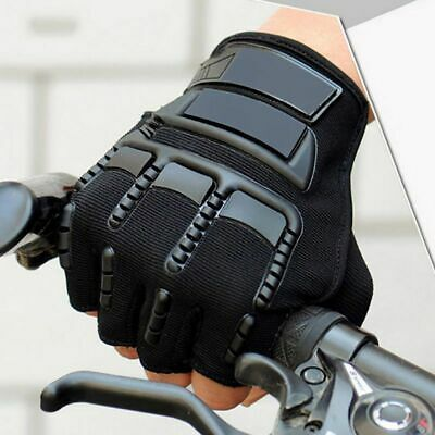 Military Tactical Half Finger Gloves Outdoor Motorcycle Hard Knuckle