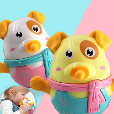 Silicone Safety BPA Silicone Baby Teether Soft Teething Cute Tumbler Puppy Toy