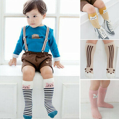 Cartoon Anti-slip Cute Newborn Kids Animal Pattern Toddler Socks Infant Knee