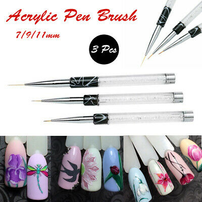 Tiny Fine Line DIY Nail Art Accessories Acrylic Pen Brush Painting Drawing Tool