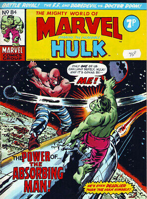 Marvel Comics The Mighty World Of Marvel No 84 Week Ending May 11th 1974