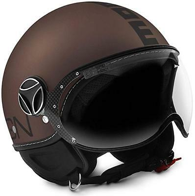 Helm Momo Design Fighter Evo Tabak Frost - Black GRÖSSE S
