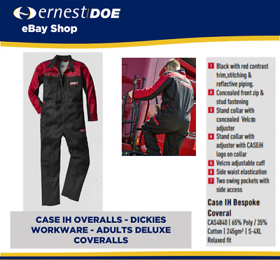 Case Ih Overalls - Dicies Workware - Adults Deluxe Coveralls