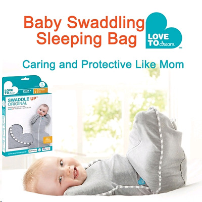 Love To Dream Swaddle Up,Kids Sleeping Bag for Baby 7-13 Ibs,Small,Gray
