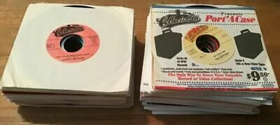 "45 rpm 7"" LOT of 50; from hundreds of vinyl jukebox RECORDS 60's 70's 80's"