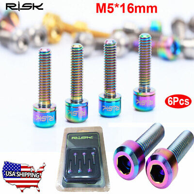 4x New Stem Bolts M8x25mm Round Hex Head 13mm With Washer Bicycle Stem Bolts