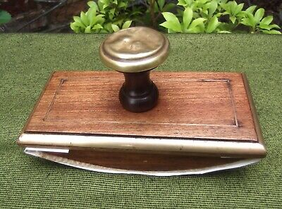 Vintage French Mahogany & Brass Inlaid Rocking Blotter~Weddings~Church~Desk Top