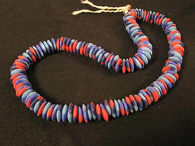 Spacer 14mm Pulverglasperlen 3 Farben AT12 Krobo Ghana Powder glass beads