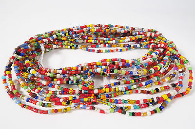 8 Stränge kleine Glasperlen 3 -4mm Afrikahandel Christmas Trade beads Afrozip