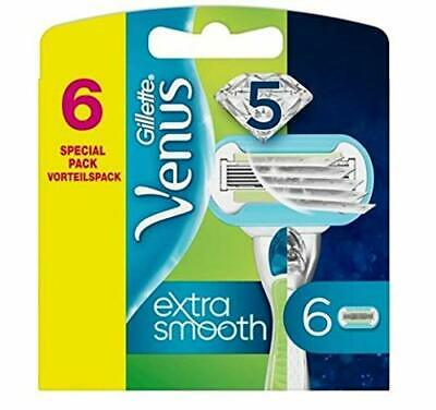 Gillette Venus Extra Smooth Women's Razor Blade Refills x6 with 3 Curve-Hugging
