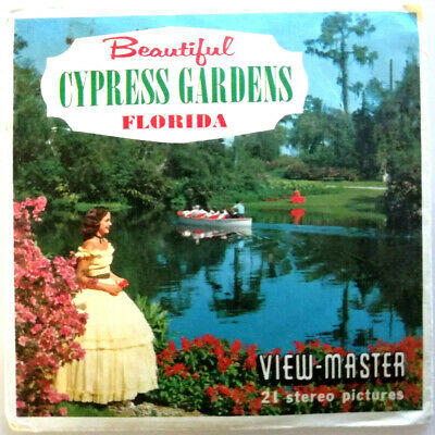 "3x VIEW MASTER REEL "" BEAUTYFUL CYPRESS GARDENS in FLORIDA "" USA AMERICA A 961"