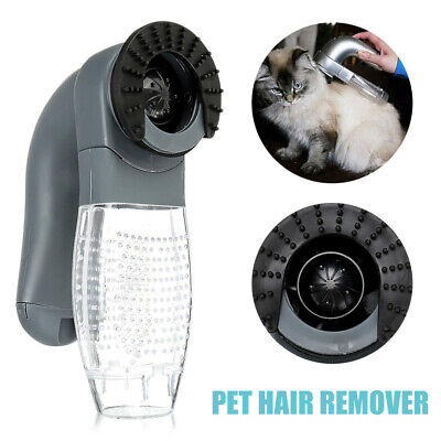 UK Electric Cat Dog Pet Hair Remover Shedding Grooming Brush Comb Vacuum Cleaner