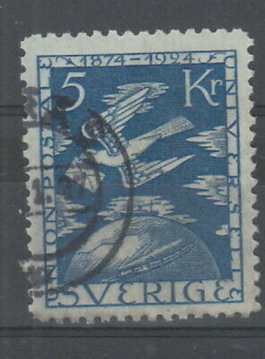 Sweden 1924 5 Kr Blue UPU Anniversary fine used SG175 Cat £225