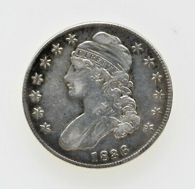 1836 Capped Bust Half Dollar Lettered edge in XF condition