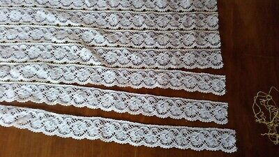 Antique Cluny Cotton Floral Lace Edging Dolls Dress Sew Crafting Firing Trimming