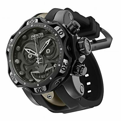 Invicta Reserve Venom DC Comics Joker Black Combat 52mm Swiss Mvt Chrono Watch