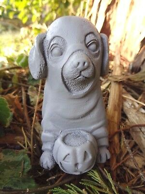 """Latex Halloween ghost dog  mold plaster cement mould  4""""H x 3""""L x 2"""" thick"""