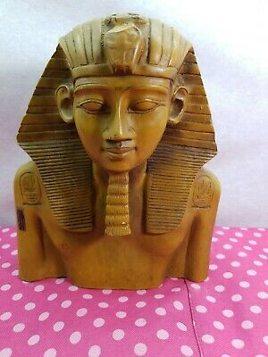 Large statue of Pharaoh Egyptian King Tut  Statue hand made,vintage Egypt statue