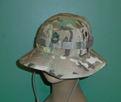US Military Issue Multicam OCP Camouflage Boonie Sun Hat SFC Rank Size 7-1/2