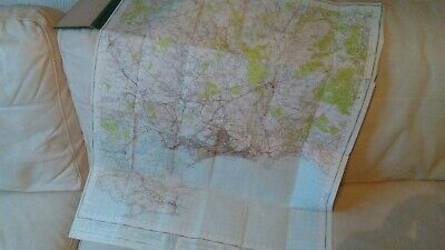 1951 map of bournemouth on cloth