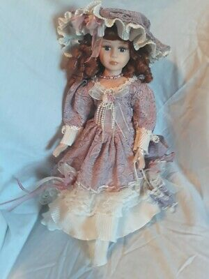 Collectable Antique Doll - Purple - (Believed to be a Nancy Denny - unsure)