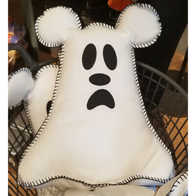 Disney Parks Halloween Mickey Ghost Boo to You Pillow Plush NWT