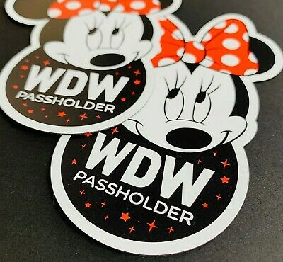 Minnie Mouse Ears & Bow WDW Disney World Passholder Car, Truck, SUV, RV Magnet