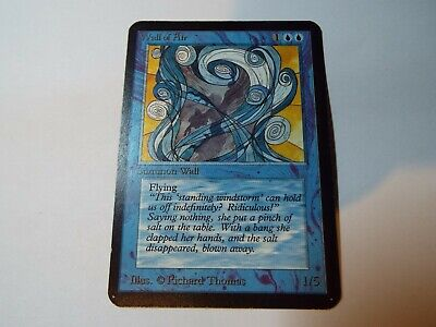 MAGIC THE GATHERING, MTG ALPHA BLUE UNCOMMON CARD WALL OF AIR, lp