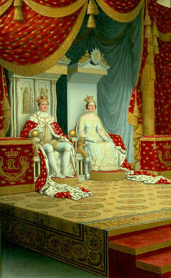 """perfect 24x36 oil painting handpainted on canvas """"The king and queen""""@NO8666"""