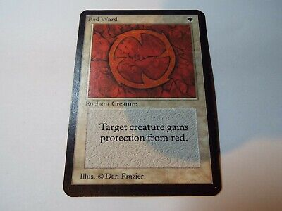 MAGIC THE GATHERING, MTG ALPHA WHITE UNCOMMON CARD RED WARD, lp