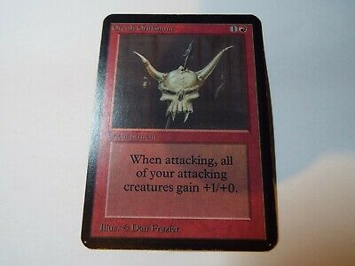 MAGIC THE GATHERING, MTG ALPHA RED UNCOMMON CARD ORCISH ORIFLAMME, lp
