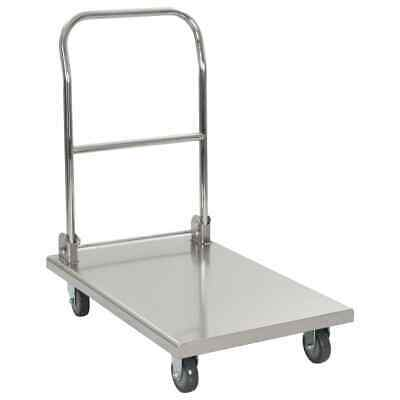 vidaXL Platform Wagon Silver Stainless Steel Transport wagons Hand Trolleys