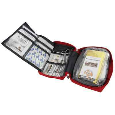 Travelsafe 57 Piece First Aid Kit Globe Tour Red Polyester Medical Safety Set