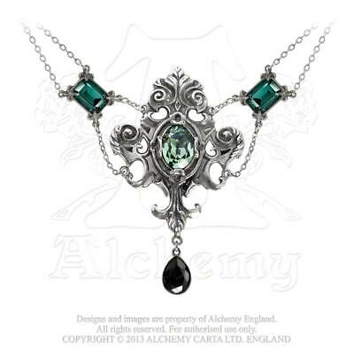 Alchemy - Queen Of The Night - Pewter and Crystal Necklace