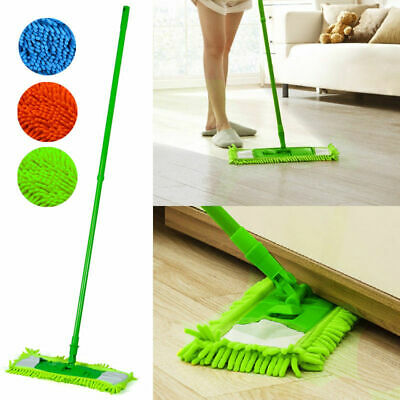 Extendable Microfibre Mop Cleaner Sweeper Wooden Laminate Tile Floor Wet Dry^RC