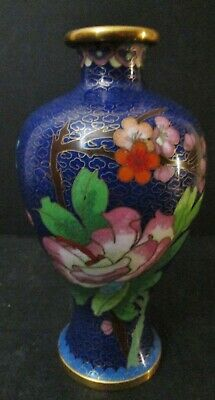 Asian Antiques Not Marked Export Chinese Cloisonne Vases Brass Early 1900S Vgc