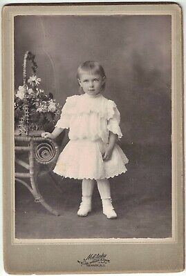 Cabinet Photo of Pretty Young Girl of 3 Years Old - Newark, NJ 1880s era