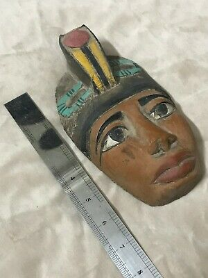 RARE EGYPTIAN ANTIQUES EGYPT King AKHENATEN Mask STATUE Carved Stone BC