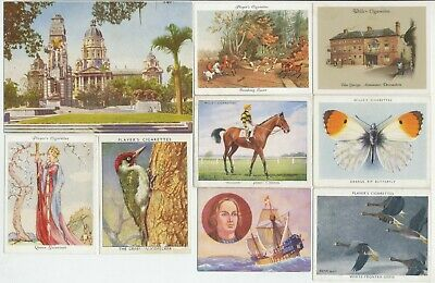 63 Large Cigarette Cards c.1920's-1940's (Various Issuers & Subjects) All Diff.