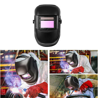 Solar Powered Auto Darkening Welding Helmet Mask Tig Welders Grinding Black